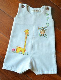 Liz Jacob: Shop for unique handcrafted kids wear Baby Boy Dress, Dresses Kids Girl, Baby Boy Outfits, Kids Outfits, Fabric Paint Shirt, Paint Shirts, Baby Dress Design, Kids Gown, Kids Frocks Design