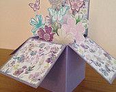 Happy Birthday card in a box, handmade birthday card, happy