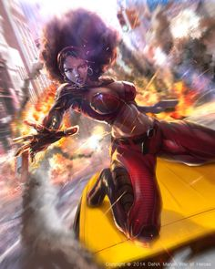 Marvel: War of Heroes - Misty Knight by Beng Tan Marvel Women, Marvel Girls, Comics Girls, Marvel Art, Marvel Heroes, Black Love Art, Black Girl Art, Comic Book Characters, Marvel Characters