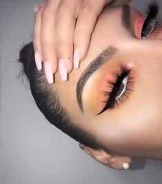 - Make up ❤ - Eye Makeup Makeup Eye Looks, Cute Makeup, Glam Makeup, Pretty Makeup, Skin Makeup, Makeup Inspo, Eyeshadow Makeup, Makeup Inspiration, Summer Makeup Looks