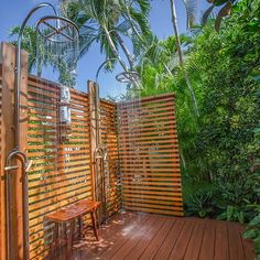 The word is out- we design outdoor showers. One of the best things about being in the tropics is getting to take a shower outdoors & why not have yours custom designed by our talented Landscape Architects....