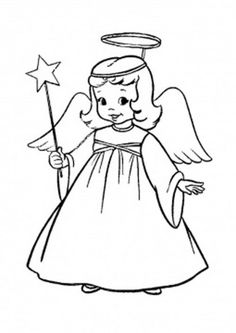 Angels Coloring Pages Christmas