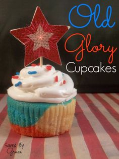 """""""Old Glory"""" Low-Sugar Cupcakes - Saved By Grace"""