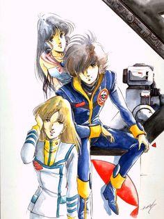 Misa, Hikaru & Minmay (DYRL art)