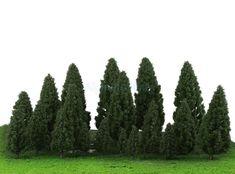 $9.73 - 20X Dark Green Trees Model Train Wargame Diorama Garden Scenery Layout Ho #ebay #Collectibles