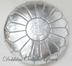 Silver pouf
