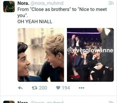 at least Niall shook his hand and made Zayn realize they haven't forgotten.