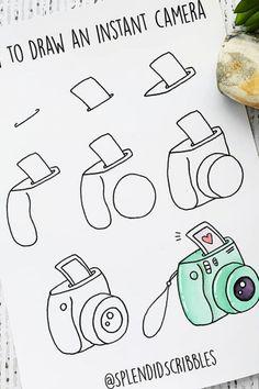 March Bullet Journal, Bullet Journal Banner, Bullet Journal Notebook, Bullet Journal Ideas Pages, Bullet Journal Inspiration, Bullet Journal Mood Tracker Ideas, Easy Doodles Drawings, Easy Doodle Art, Simple Doodles