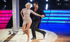In motion: Carlos and partner Witney Carson, meanwhile, left the judges wanting more but still scored 27 points for their Argentine tango to What Do You Mean by Justin Bieber