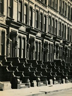 Brownstones on the West Side, 1963. Photo: Evelyn Hofer. #NewYorkNewYork