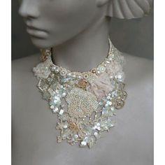 Secret Garden  antique lace necklace  by Krista Raak
