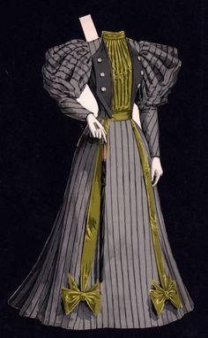 Victorian Paper Dolls, Vintage Paper Dolls, Victorian Dollhouse, Modern Dollhouse, 1890s Fashion, Edwardian Fashion, Edwardian Era, Antique Clothing, Historical Clothing