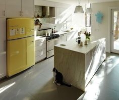 Trend Alert: 13 Kitchens with Colored Refrigerators: Remodelista