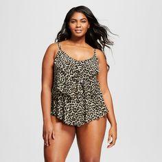 f166cbe6e984d Women s Plus Size Tiered Tankini - Aqua Green   Target Plus Size Tankini