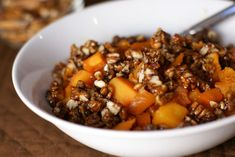 Roasted Butternut Squash with Maple Pecan Topping | 5DollarDinners.com