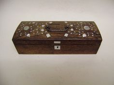 Victorian 19 th C rosewood pencil box Inlaid mother of peral pewter &brass Boxes in Antiques, Woodenware, Boxes | eBay