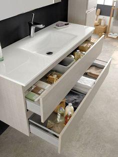 Cajones bajo lavabo - Blog F de Fifi: manualidades, imprimibles y decoración: 8 ideas para reformar tu baño y darle un nuevo aire - #decoracion #homedecor #muebles