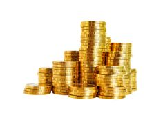Stacked Pile of Gold Coins Money - http://www.welovesolo.com/stacked-pile-of-gold-coins-money/