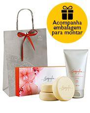 Presente Natura Biografia Feminino - Sabonete em Barra + Desodorante Hidratante + Embalagem Desmontada
