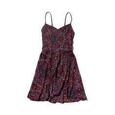 s.out  Abercrombie & Fitch Patterned Wrap Front Skater Dress