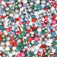 Baubles and Wishes Christmas Sprinkles Cake Sprinkle Suitable for Vegans Gluten Dairy Free Mixed Red Green White Pearls Cakes Baking Christmas Sprinkles, Christmas Cupcakes, Vegan Christmas, Christmas Baking, Pearl Cake, Baking Items, Gum Arabic, Ornament Wreath, No Bake Cake