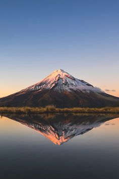 Mystical Taranaki reflections captured from Pouakai Tarn