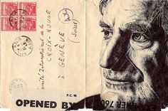 Mail art portrait by Mark Powell