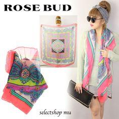 ローズバッド,ROSE BUD,HARALDIC スカーフ,123966