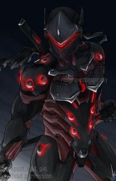 A broken Shimada, a promise, hatred, and . Overwatch Hanzo, Overwatch Fan Art, Fantasy Armor, Dark Fantasy Art, Black Anime Characters, Fantasy Characters, Genji Wallpaper, Ninja Armor, Character Art