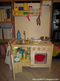 cucina giocattolo fai da te