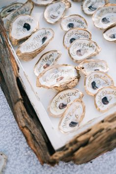 Oyster geode escort cards make for perfect island wedding details. Oyster geode escort cards make for perfect island wedding details. Wedding Places, Wedding Tips, Trendy Wedding, Wedding Details, Wedding Planning, Elegant Wedding, Diy Wedding, Pirate Wedding, Elegant Chic