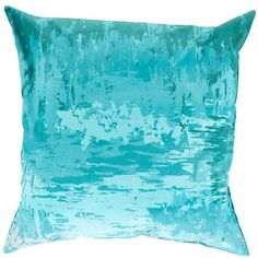 Serenade Blue and Green 20-Inch Pillow Cover