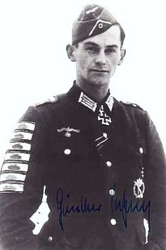 Günther Viezenz (1921 – 1999) Hauptmann in the Wehrmacht. Vienzez was the record-holder of the Tank Destruction Badge. He single handedly destroyed 21 enemy tanks with hand held explosives such as a panzerfaust, satchel charge or hand grenade. Awarded four Tank Destruction Badges in Gold and one in Silver. Awards Infantry Assault Badge in Silver 21 Tank Destruction Badges for Individual Combatants 1 Silver 4 Gold Iron Cross 2nd and 1st Class Knight's Cross of the Iron Cross