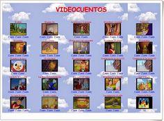 """""""Videocuentos"""" es una interesante página de cuentos en vídeo, es especial de cuentos clásicos. Digital, Kid Books, Sons, Short Stories, Reading"""