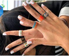 Bead Jewellery, Diy Jewelry, Beaded Jewelry, Handmade Jewelry, Jewelry Patterns, Bracelet Patterns, Beading Patterns, Beaded Rings, Jewelry