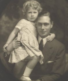 I have always loved this tender portrait of the young Princess Elizabeth and her father the Duke of York.