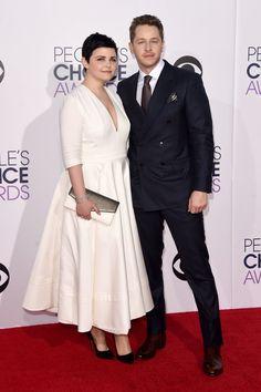 Pin for Later: Pour Voir Toutes Les Photos du Tapis Rouge des People's Choice Awards, C'est Par Ici Ginnifer Goodwin et Josh Dallas