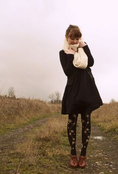 This whole outfit is adorable, but the tights are my favorite part of the outfit!