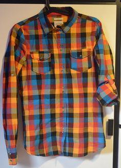 Kup mój przedmiot na #Vinted http://www.vinted.pl/kobiety/koszule/8125067-koszula-w-krate-diverse-niebieski-zielony-pomaranczowy-sliczna