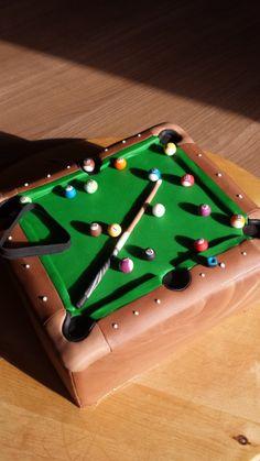 Pooltafeltaart | Pool table cake