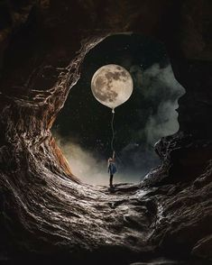 Female Artist Creates Stunning Dark Photo Manipulations is part of Beautiful moon - Today I want to share with you amazing photo manipulations by artist Natacha aka closer They're slightly dark but perfectly done And they will surely… Moon Moon, Moon Art, Moon Photos, Moon Photography, Street Photography, Photography Photos, Wedding Photography, Galaxy Wallpaper, Stars And Moon