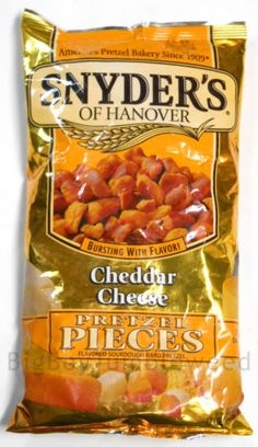 Snyder's of Hanover Cheddar Cheese Sourdough hard Pretzel Pieces chips 12 oz bag #BigBoyTumbleweed