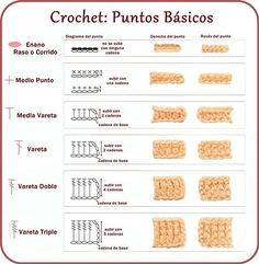 puntos crochet basicos - Google Search