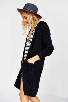 Glamorous Cozy Hooded Cardigan - Urban Outfitters