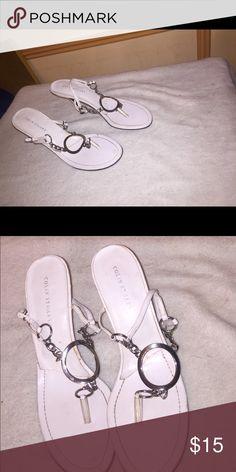 Sandals White sandal Colin Stuart Shoes Sandals