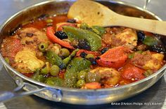Harrissa Moroccan Chicken with Roasted Peppers & Olives