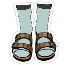 Birkenstocks and socks • Also buy this artwork on stickers, apparel, phone cases, and more.