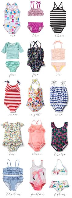 little style // affordable swimsuits for girls - Baby Bikini, Baby Swimwear, Baby Girl Swimsuit, Baby Outfits, Kids Outfits, Affordable Swimsuits, Affordable Clothes, Little Girl Fashion, Kids Fashion