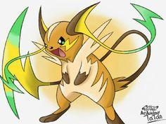 Mega Raichu Pokemon art academy  by tatanRG.deviantart.com on @DeviantArt - Fakemon