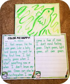 Color me happy: A fun art and writing project for the beginning of the year to help students talk about emotions! Pairs perfectly with the Dr. Seuss book, My Many Colored Days